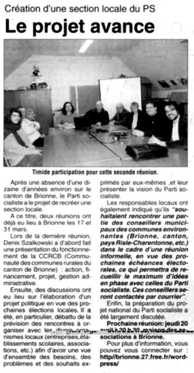 L'Eveil Normand du 31 mars 2006