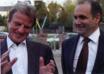 Franck Martin et Bernard Kouchner