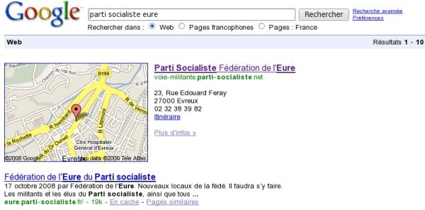 Le nouveau site de la Fédération de l'Eure du Parti socialiste ?