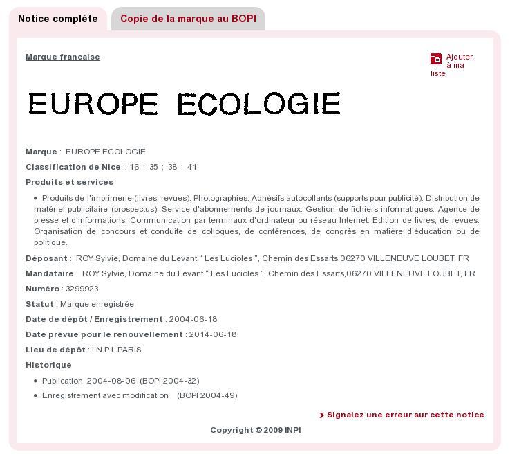 Europe Ecologie, une marque à ne pas utiliser pour les Régionales ?
