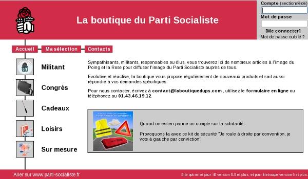 La boutique du Parti socialiste
