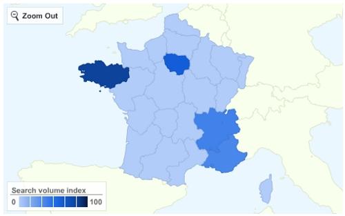 Les régions sensibilisées aux élections européennes du 7 juin 2009