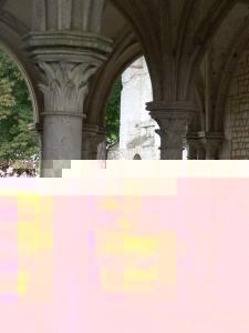 La salle capitulaire de l'Abbaye Notre Dame de la Fontaine de Guérard