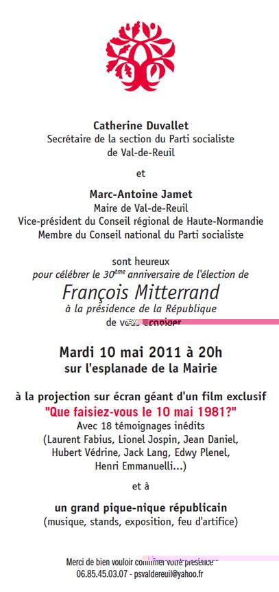 Le 10 mai 2011 à Val de Reuil