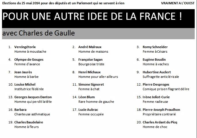 Une 23e liste pour les élections européennes du 25 mai dans la région Nord-Ouest