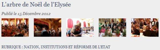 """L'arbre de Noël 2012 catégorisé dans """"Institutions et réforme de l'Etat"""" !"""