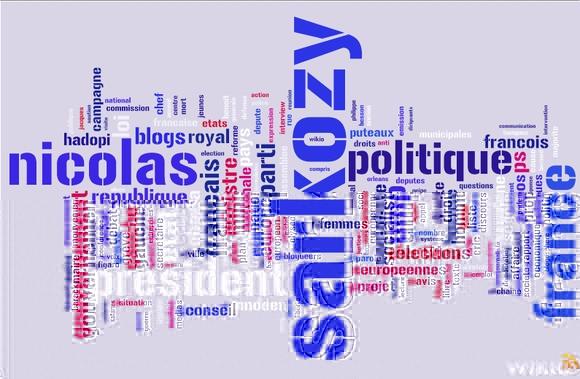 Le blogcloud wikio politique