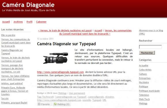 Caméra Diagonale de José Alcala sur TypePad
