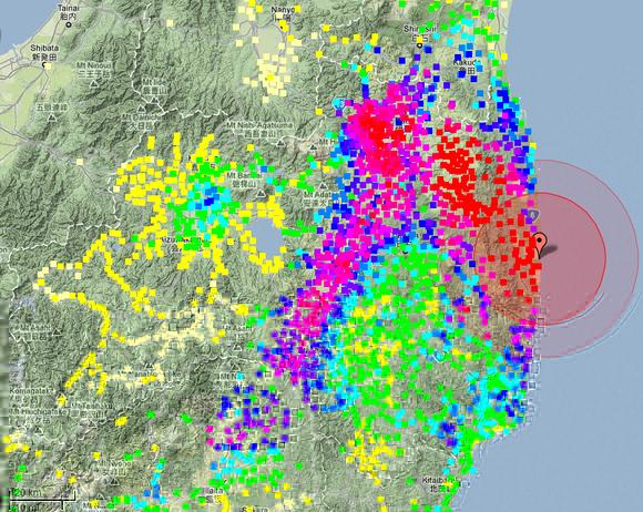 Contamination radioactive des sols japonais au 14/07/2011