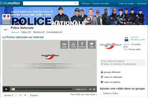 La Police Nationale française sur Dailymotion