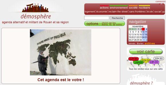 Démosphère Rouen, agenda alternatif et militant