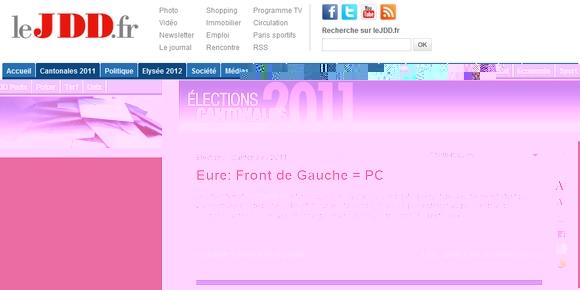 Eure: Front de Gauche = PC, c'est corrigé !