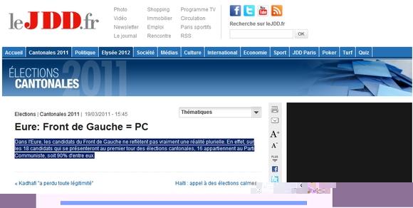 Eure : Front de Gauche = PC