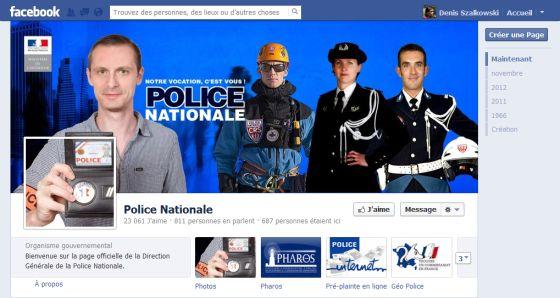 Le facebook de la Police Nationale française !