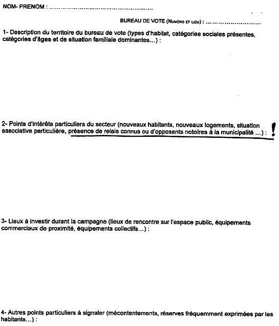 La fiche envoyée par Jean-Marc Ayrault pour ficher ses opposants à Nantes