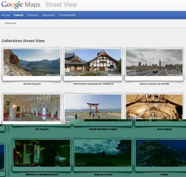 La gallerie Google Maps Streetview