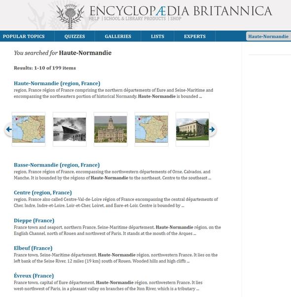 Recherche de Haute-Normandie dans l'encyclopédie Britannica
