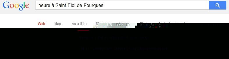 L'heure à Saint-Eloi-de-Fourques selon Google