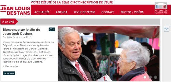 Jean-Louis Destans, député eurois socialiste photogénique