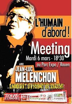 Jean-Luc Mélenchon, à rouen, le 6 mars 2012 !