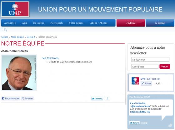 Jean-Pierre Nicolas, député UMP de la 2e circonscription de l'Eure
