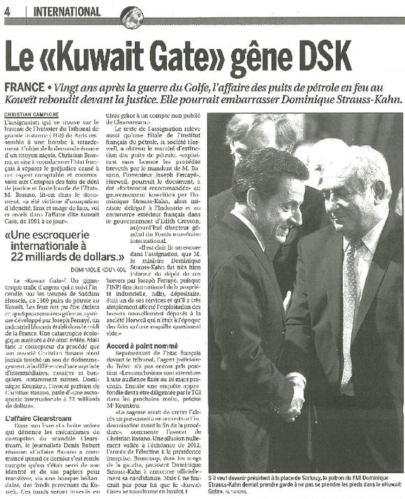 Le Kuwait-Gate, casserole pour DSK ?