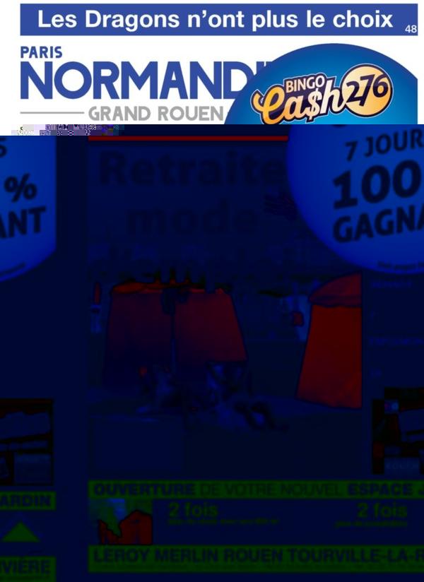 La une de Paris Normandie pourrie de publicités !