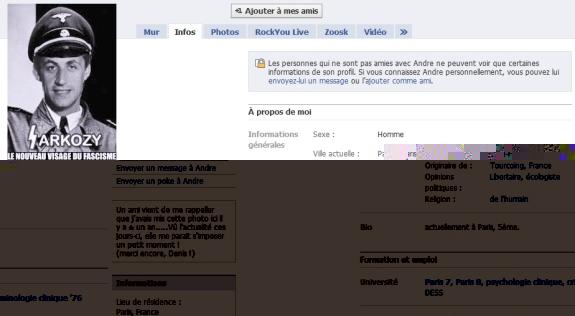 Le facebook d'un crétin... André M.