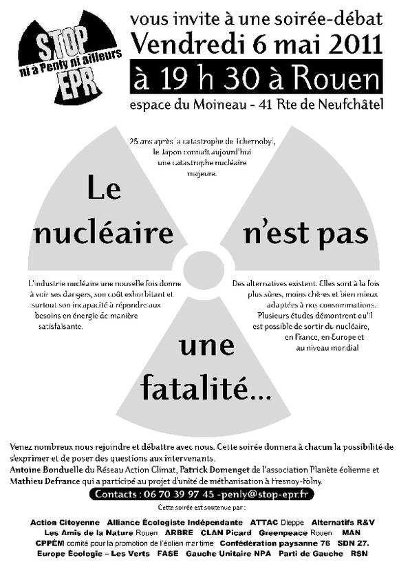 Soirée débat : le nucléaire n'est pas une fatalité !