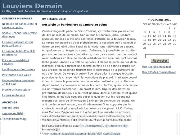Le blog Louviers Demain est mort !