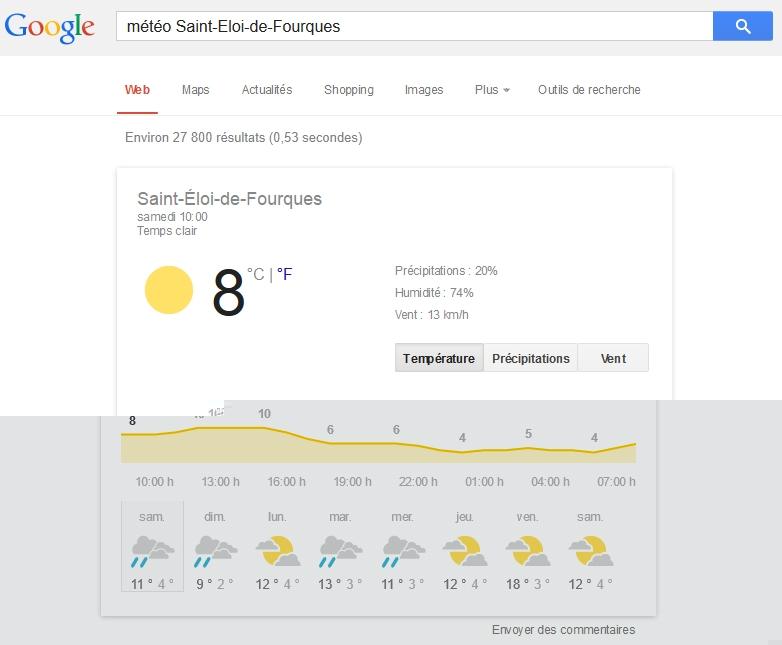 La météo à Saint-Eloi-de-Fourques