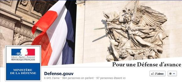 Le ministère de la Défense est sur Facebook !