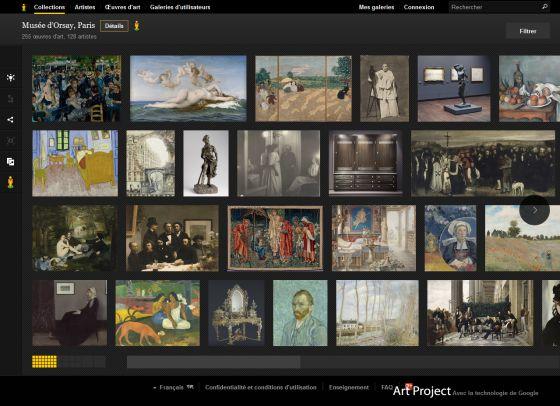 Visiter le musée d'Orsay via Google Art Project