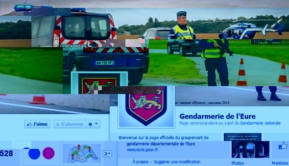 La page Facebook de la gendarmerie de l'Eure