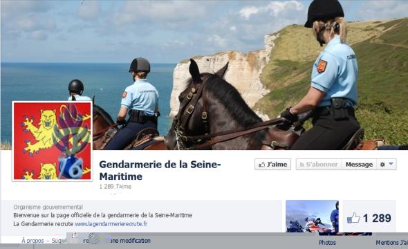 La page Facebook de la gendarmerie de Seine-Maritime