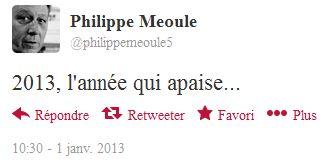 Par Philippe : 2013, l'année qui apaise