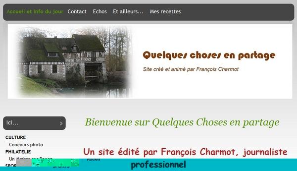 Quelques choses en partage, un blog signé François Charmot !