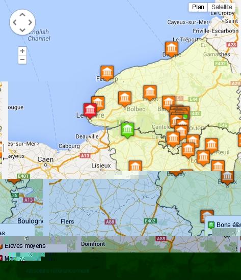 SEO : visibilité des communes de Haute-Normandie