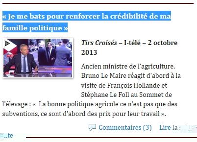 Bruno Le Maire dans la seringue médiatique
