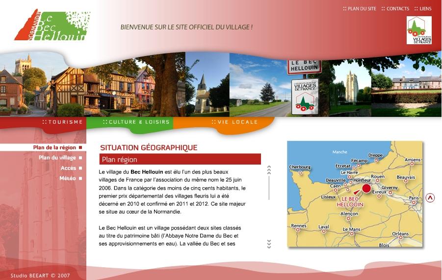 Le site de la commune du Bec Hellouin