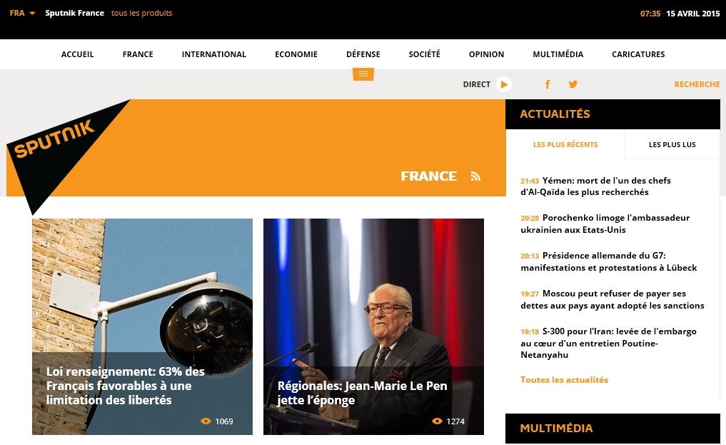 Sputnik : l'information vue de Moscou sur la France