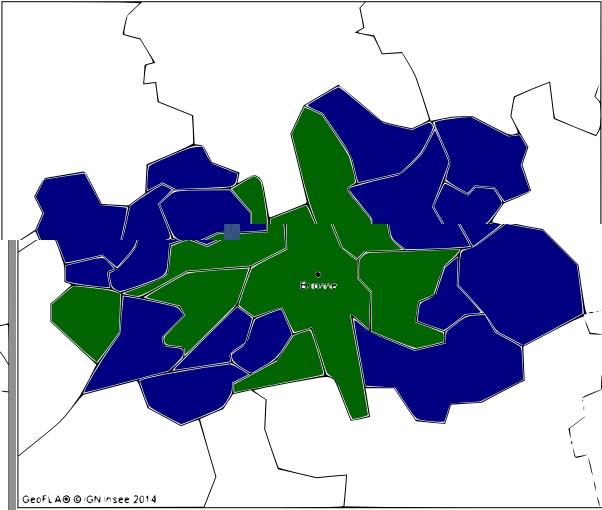 Le vote FN dans le canton de Brionne