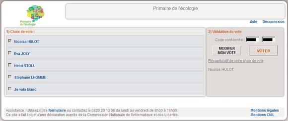 J'ai voté Nicolas Hulot !